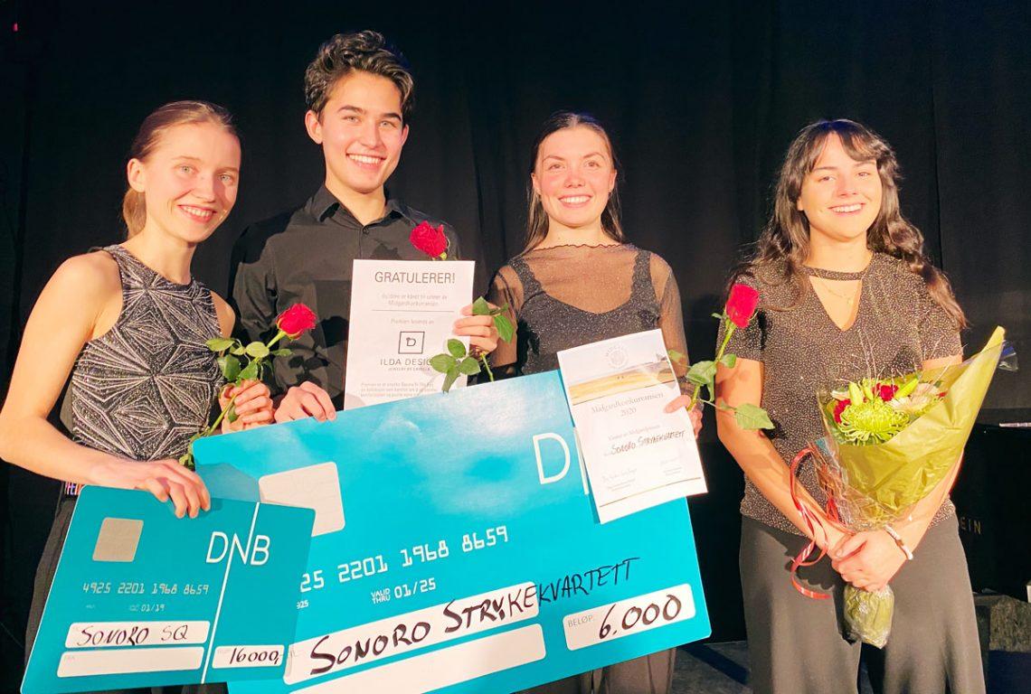 Sonoro String Quartet – vinner av Midgardkonkurransen 2020